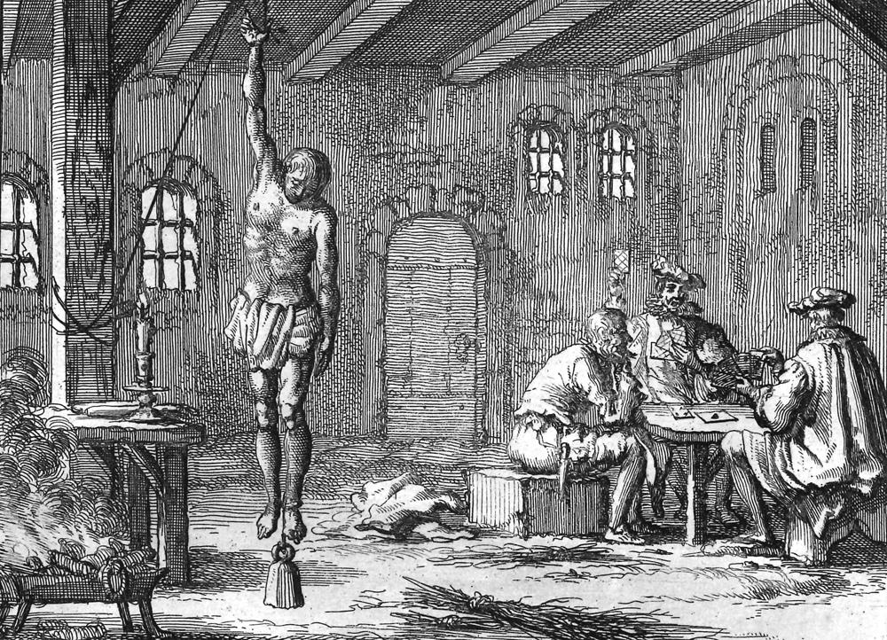 Folterdarstellung in Theatre de Martyrs