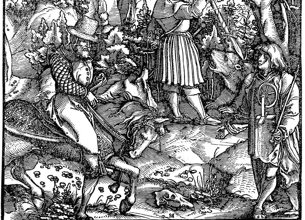 Holzschnitt um 1512 – Bärenjagd