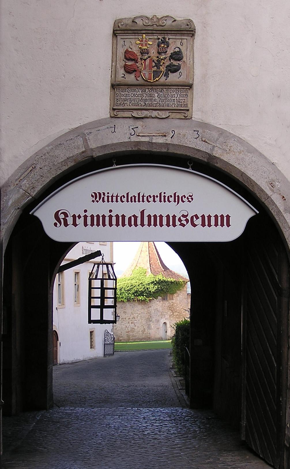 Kriminalmuseum - Arrival